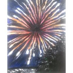 "SOLD ""Firework No. 3"", 8"" x..."